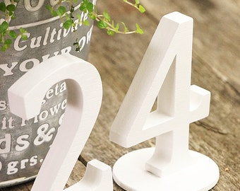 Wedding Table Numbers - Wooden Table Numbers - Vintage Chic - set of 10 table numbers