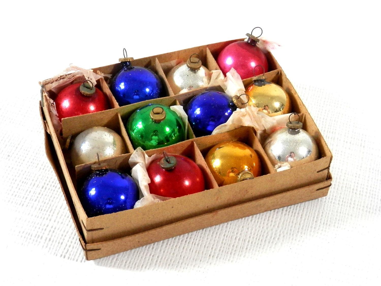 Antique christmas ornaments mini glass mercury balls