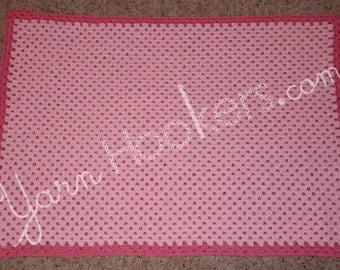 Rows of Granny Stitches - Girl Baby Blanket, Afghan, Throw - Instant Download