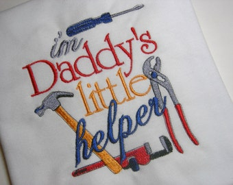 Daddy's Little Helper Boys Embroidered Toddler Shirt (4T)