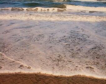 8 x 10 matted photograph Huntington Beach, ocean