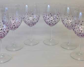 Sale - Candy Wine Glasses set of 6