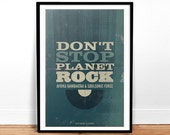 Don't Stop Planet Rock - Art Print