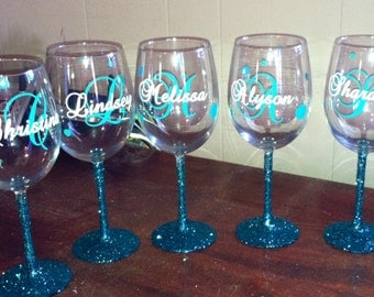 Wine Glass Decal Etsy - Custom vinyl decals for glass