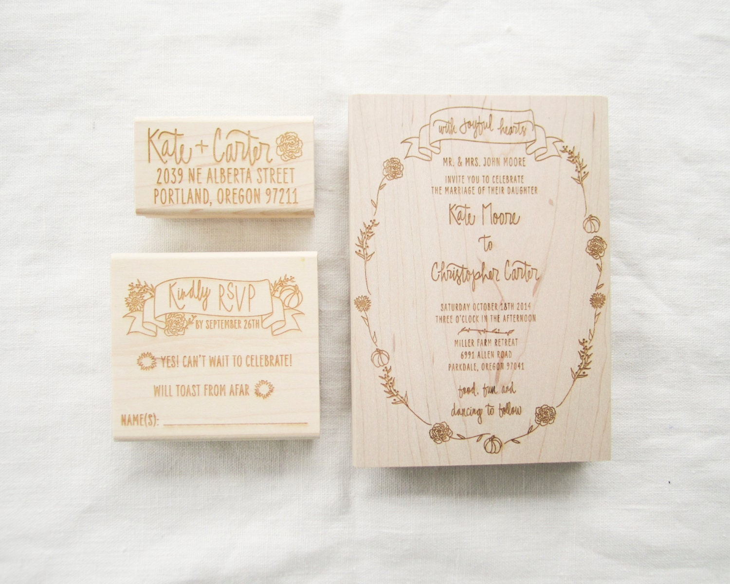 Wedding Invite Stamp: Custom Wedding Invitation Stamp Suite Wedding By Papersushi