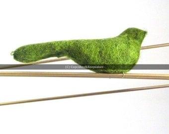 """Green """"Bird on a Wire"""" Fine Art Photograph"""