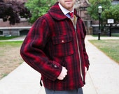 Woolrich Hunting Style Plaid Jacket - Buffalo Plaid - Men's Vintage - Heavy Weight Wool