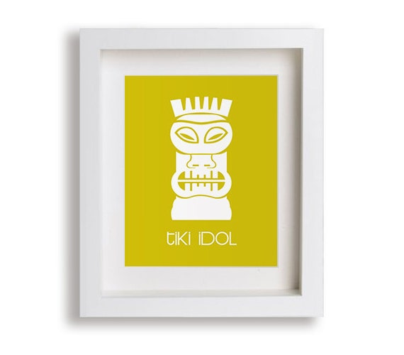 Tiki Idol Kids Art Print - Modern Wall Decor for Baby's Room, Children Decor, Surf Decor, Beach Nursery Art, Kids Decor, Wall Art, Playroom