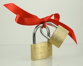 We Two, Love Lock,Personalized Wedding,ENGRAVED LOVE LOCK ,Wedding, Valentine, Valentines Day Gift, Red,Engraved Lock