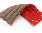 Natural Heating Pad, Flax Seed Hot Pack, Red Sock Monkey, Holiday Gifts, Aromatherapy, Scented