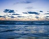 Nags Head  Beach Sunrise, North Carolina Summer Landscape Nature Art, 8x10, Frame Option