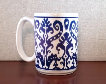 Ikat Patterned Mug