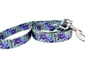 Van Gogh Irises Fashion Dog Leash - 5ft. Made From Recycled Webbing