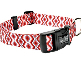 Ravishing Red Poppy Fashion Dog Collar - Made From Recycled Webbing