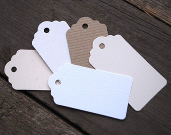 Recycled Gift Tags medium, Rustic Natural colour Swing Tags, Luggage or Hang Tags, Sets of 15, 30, 60 or 105