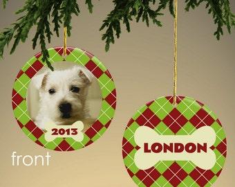 Personalized Dog Photo Ornament