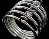 6 pc  silver finish with Loop Ring Base-8540