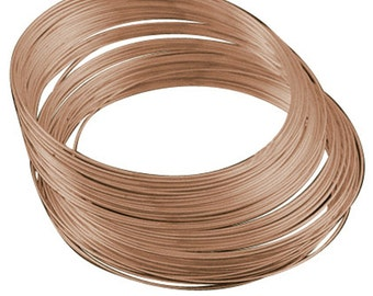50 Circles Copper finish Memory Wire For Bracelet Making 5.5cm 1mm thickness-9408