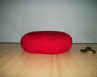 Meditation Cushion. Zafu. Cherry Red Poly Cotton Blend Diversitex Twill. UNFILLED Cover Only. USA Made by a Micro Business