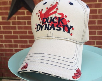 Duck Dynasty  Distressed Baseball Style Hat EXTRA Bling