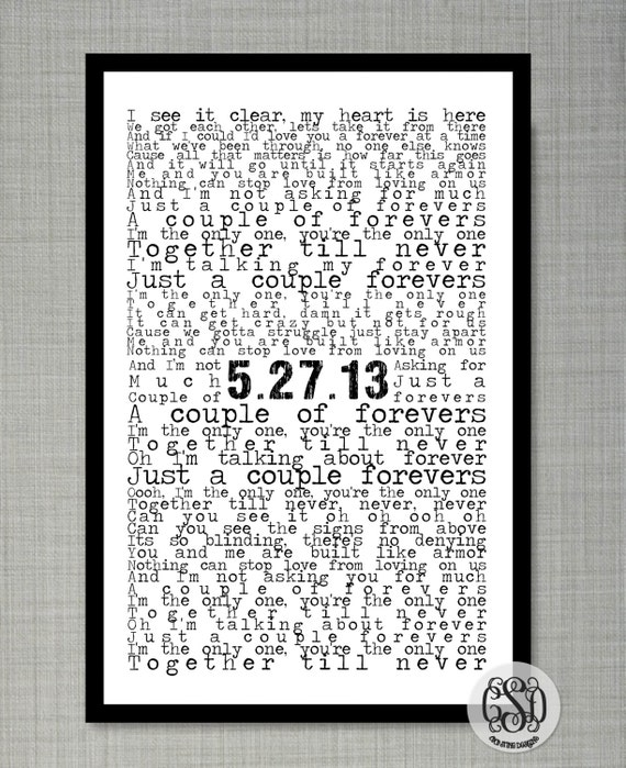 Special Song or Love Letter and Special Date 11x17 Print