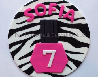 Fondant Cake Topper - Spa Party