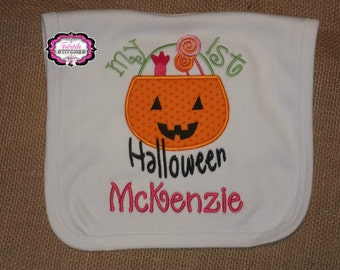 Personalized Boutique Baby My First Halloween Bib
