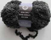 SALE Vienna Stripes Loops and Threads Graystone Yarn Wool Acrylic Boucle Loops Grey Fur Yarn