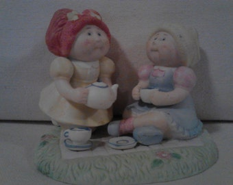 Cabbage Patch Kids  Tea Time Friends  Porcelain Figure