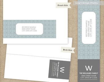 Modern Wrap Around Address Labels | Printable