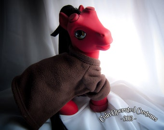 OOAK Custom My Little Pony - Hellboy