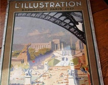 Rare Edition Antique French Publication L'ILLUSTRATION -Exposition Paris 1937