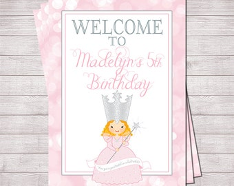 """Glinda the Good Witch Welcome Sign Printable - 5"""" x 7""""   Wizard of Oz"""