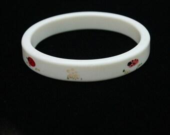 Vintage Ladybug Bangle Bracelet