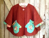Gwendolyn - Girl's Cape Pattern. Easy Girl's Sewing Pattern. Toddler Sewing Pattern. Sizes 1-10