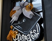 Graduation Wreath, Graduation Door Hanger, Graduation Party Decor,