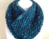 Teal Blue Infinity Scarf Neck Warmer