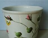 ZETA  Bassano Italy  Vintage Porcelain Planter Vase Ferner Flower Buds  5 1/4-inch wedding gift