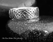 Eco-Friendly, Recycled Silver, Men's, Celtic, Band, Fashion Ring, Tree Of Life, Gift