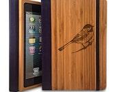 Bird - Bamboo iPad Mini Case, Wood iPad Mini Case, iPad Mini Bookcase