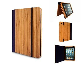 20% Off: Libreria Bamboo iPad 2/3/4 Bookcase, Bamboo iPad case, Wood iPad case by Primovisto