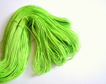 10 yards Neon Cotton Cord for Jewelry,Woven Waxed  Cotton cord for Necklace,Do it yourself jewelry