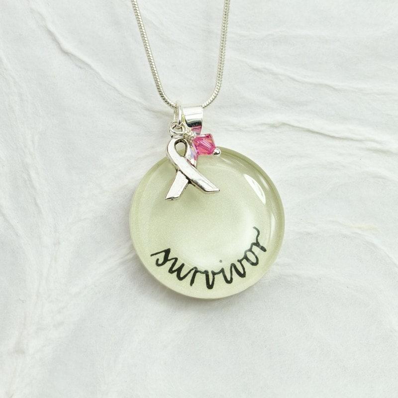 breast cancer survivor jewelry cancer awareness necklace