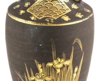 Lovely Hand-Gilded Petite Egyptian Art Deco Vase