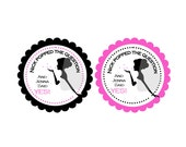 "Personalized 2.5"" OR 2"" Round He Popped the Question Bridal Shower Stickers, popcorn favor stickers, bridal shower favors"
