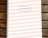 Personalized Messy Stripe Notebook Journal