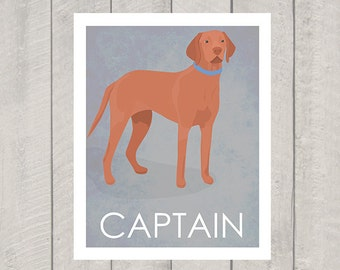 Vizsla Art Print - Custom Dog Art