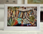 "RAINBOW TIGER / Greeting Card with envelope (5x7"")"
