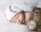 Newborn Photo Prop, Baby Baseball Hat, Baseball Baby Hat, Baby Boy Knit Hat, Baby Boy, Baby Boy Knit Hat, Baby Baseball Beanie, Baseball Hat