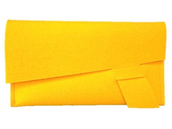 ArtAK DART Clutch. Merino Wool Felt Clutch, Document Holder or Treasure Envelope. Ideal for Travel and FUN. Handmade. 3mm Thick.